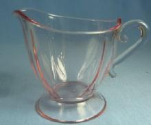 Pink Depression Era ELEGANT Glass Creamer Pitcher