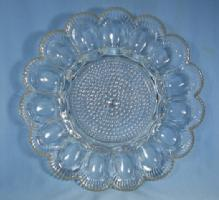 Antique Glass DEVILED EGG Serving Tray Charger Plate