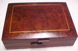 Inlayed BURLED WOOD Cuff Box - Jewelry