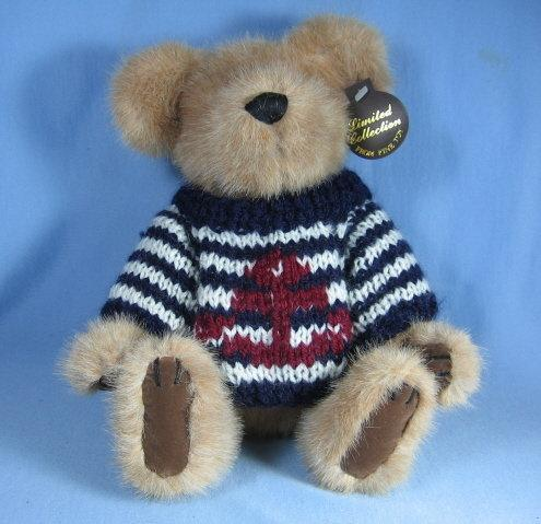 Vintage Faux Mink Nauticial TEDDY BEAR - toy