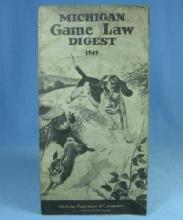Antique 1949  Michigan GAME LAW DIGEST Hunt Manual - sporting