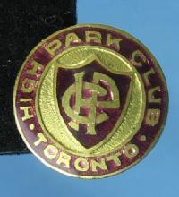 Vintage CURLING Pin Toronto HIGH PARK CLUB Souvenir - sporting