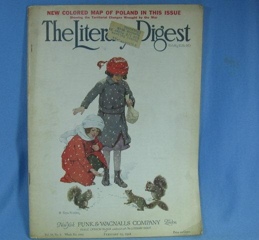 The LITERARY DIGEST Magazine February 19, 1921 - Antique Advertising pages