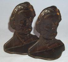 ABRAHAM LINCOLN Cast Iron Bookends - Metalware
