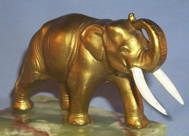 ELEPHANT on Marble Base Pin Tray - Misc.