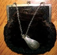 GORHAM SILVER Chantelaine Leather Purse - Silver