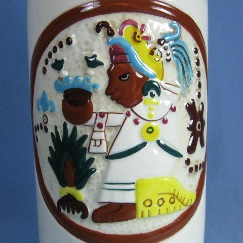 Vintage KAHLUA Liquor DECANTER Bottle Mexico Pottery - Barware