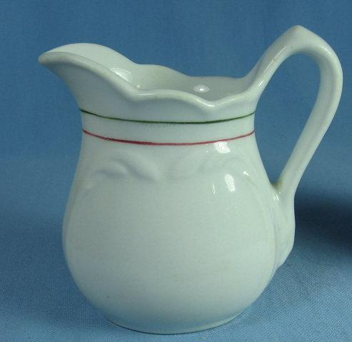 SHENANGO China Double Band Restaurant Ware Creamer