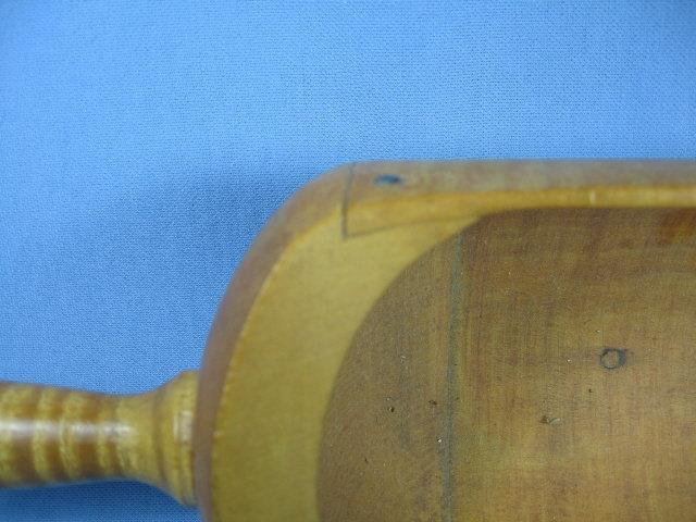 Treen Woodenware SCOOP ~ Tiger Stripe Butternut SCOOP - fine antique
