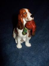 Antique Royal Doultan Porcelain Dog Figurine with Pheasant