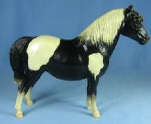 Vintage Breyer SHETLAND PONY 1960-1973 Black Pinto - Model Toy Horse