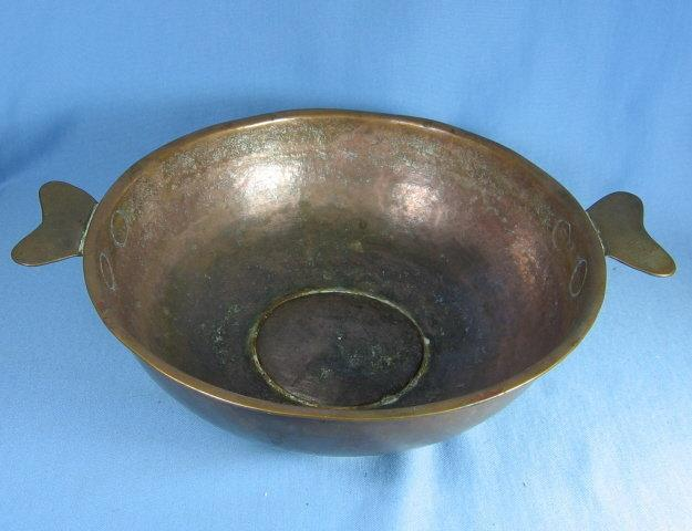 Brass Copper  Hand Forged   Bowl with Handles - matalware