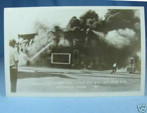 FIRE at SPENCER IOWA RPPC 1931