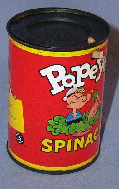 Mattel POPEYE  Spinach Can Jack-In-The -Box - Toys