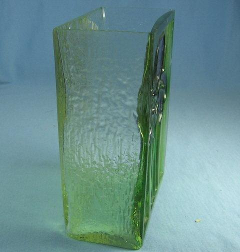 IRIS Flower Vase  Vintage Molded & Stained Glass