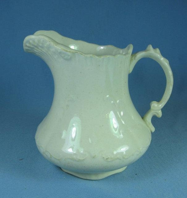 Antique Ironstone Pottery PITCHER Wellsville Co