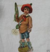 Raphael TUCK Victorian Die Cut Boy Child Scrapbook