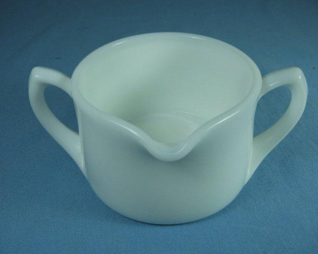 Milk Glass Juicer REAMER 2-Handle Bottom Jar