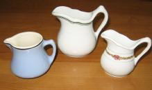 Restaurant Ware CREAMER 3 pc -  Sterling - Liberty Stoneware Pottery  Porcelain