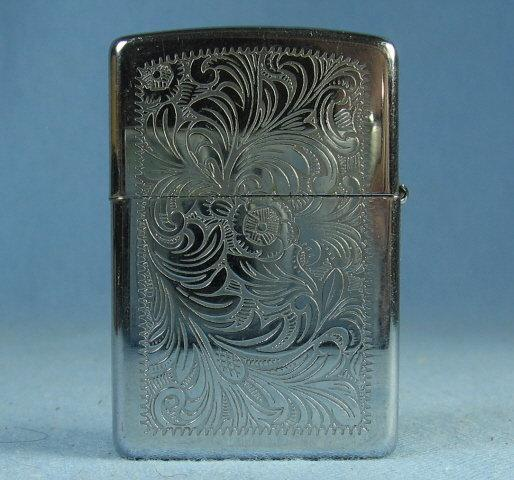 ZIPPO vintage Lighter with Silvertone Brushed Finish - Vintage Smoking Tobacciana