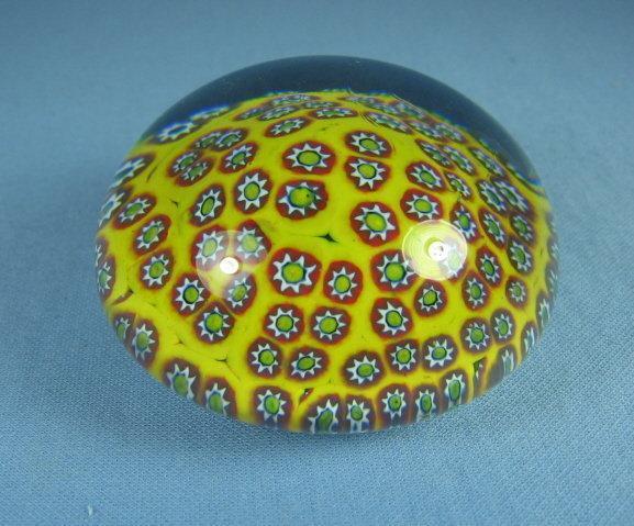 Millefiori Art Glass PaperweightItalian
