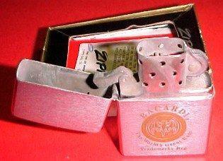 BACARDI RUM Cigarette Lighter ZIPPO Box  - Tobacciana