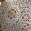 YO-YO Quilt - Hand Stitched Antique Quilt - textile