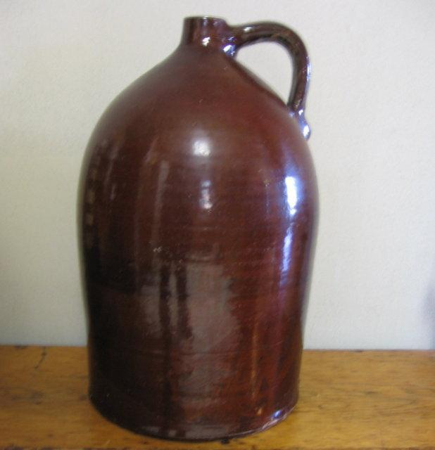 BENNINGTON Stoneware Crock Jug Five gal - Antique Country Pottery