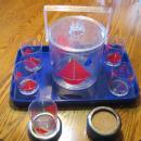 SAIL Boat Nautical Beverage Set - Acrylic Water Glasses Ice Bucket and Serving Tray