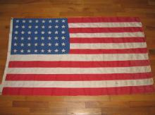 48 Star Flag US Vintage - Antique Political Textile