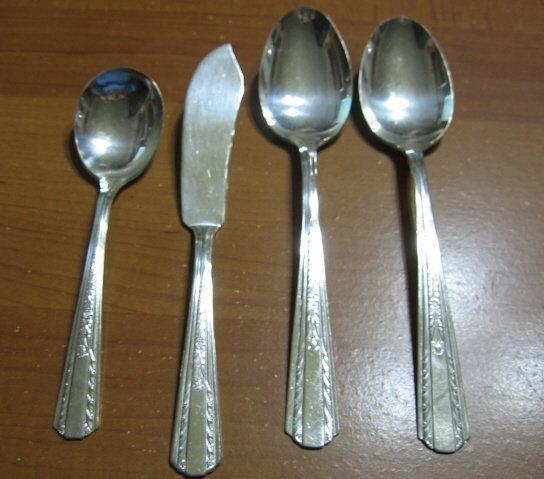 International HOLLYWOOD Silver Silverplate Serving Pcs