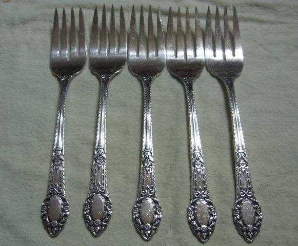 OLD SOUTH RENDEZVOUS Oneida/Wm Rogers Silverplate 5pc  Lot.