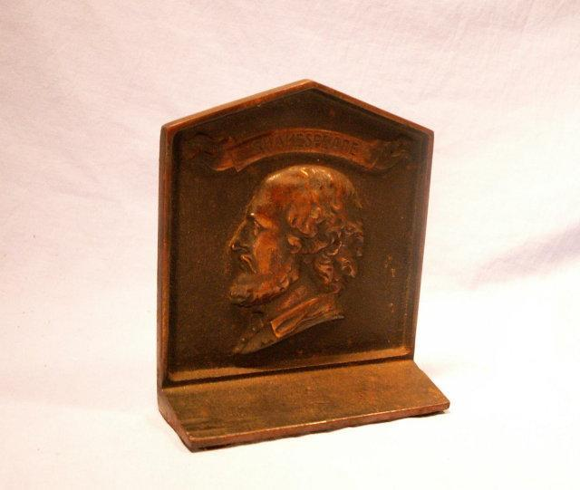 SHAKESPEARE Cast Iron Bookend - Metalware