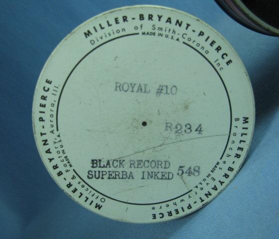 Miller ELK Typewriter Ribbon Tin - Vintage Advertising