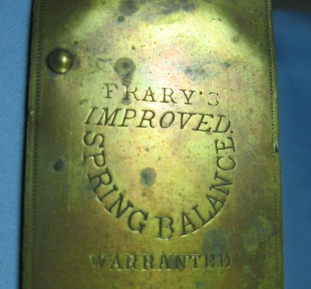 Antique Brass 48# Spring Balance Scale by FRARYS  * metalware tool