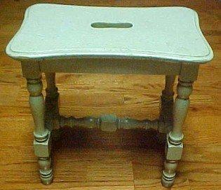 Green Stool Painted Knock Down - Furniture