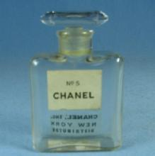 CHANEL No 5 with Glass Stopper   -  Vintage Miniature Perfume Bottle