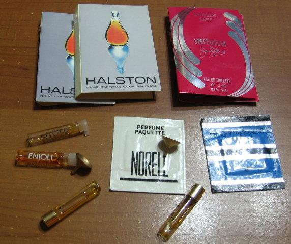 PERFUME Sample Group   -  Vintage HALSTON * ENJOLI * ARPEGE * Perfume