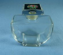 FLEURS DE ROCAILLE PARFUM by De Caron   - Baccarat Glass Perfume Bottle in Original box