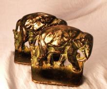Black ELEPHANT Cast Iron Bookends - Metalware