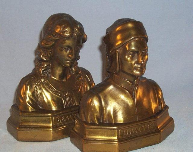 Gold Finished DANTE & BEATRICE Bookends - Metalware