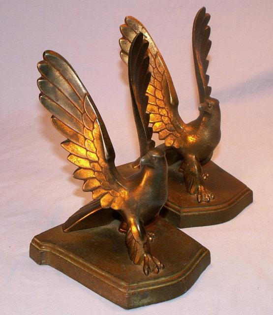One ELEPHANT CHARGE Bronze Clad Bookend - Metalware