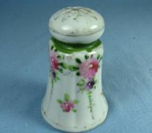 Porcelain Shaker or Handpainted HATPIN Holder - Antique Vintage