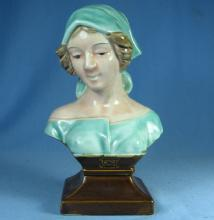Decorative Porcelain BUST - Weighted Peasant Lady