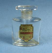 CONQUEST Perfume Bottle - Vintage miniature Blown Glass