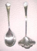 Cream Ladle + Sugar Shell Art Deco - Sterling