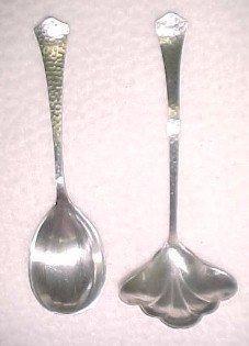 Cream Ladle + Sugar Shell Art Deco - Sterling