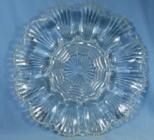 OYSTER or MUSSEL Serving Plate Tray - Vintage Clear Glass