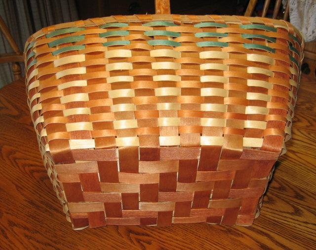1930's  Basket Splint Ash Wood Native American Indian Woven Basket  - Antique Ethnographic