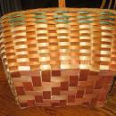 Large 1930's  Basket Splint Ash Wood Native American Indian Woven Basket  - Antique Ethnographic